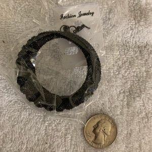 Black metal NWT earrings